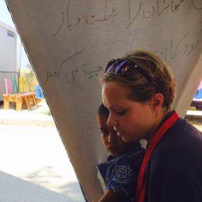 Susan van Ommen op Lesbos