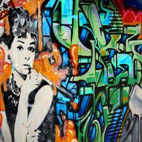 Audrey Hepburn in streetart