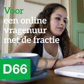 D66 Voor een online vragenuur met de fractie