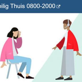 Bij huiselijk geweld bel Veilig Thuis 0800-2000
