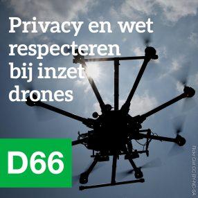 Privacy en wet respecteren bij inzet drones